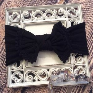 Other - Baby Girls Black Knot Bow Headband